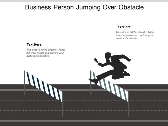 Business Person Jumping Over Obstacle Ppt PowerPoint Presentation Infographics Background Designs