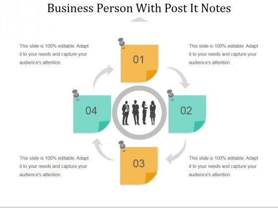 Business Person With Post It Notes Ppt PowerPoint Presentation Professional Influencers