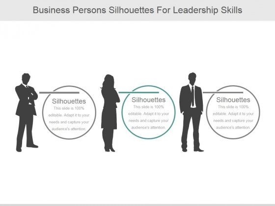 Business Persons Silhouettes For Leadership Skills Ppt PowerPoint Presentation Background Images
