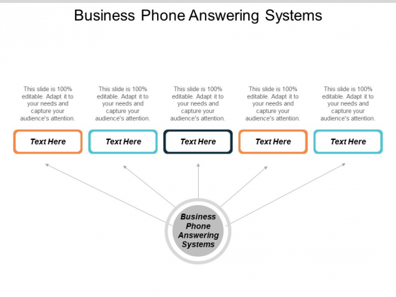 Business Phone Answering Systems Ppt Powerpoint Presentation Show Skills Cpb