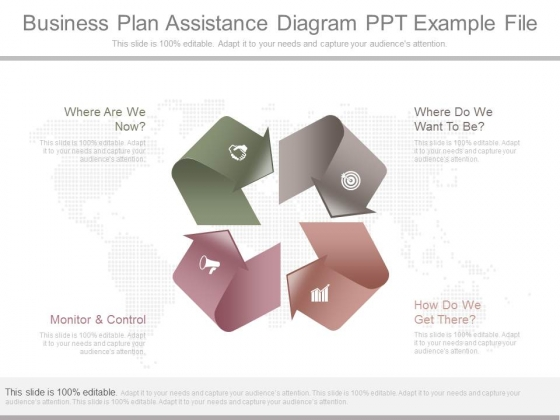 Business Plan Assistance Diagram Ppt Example File