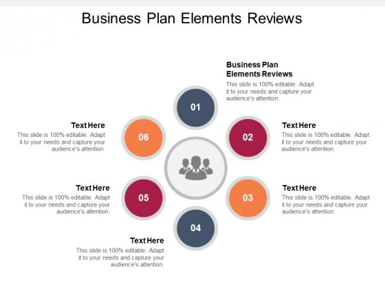 Business Plan Elements Reviews Ppt PowerPoint Presentation Model Guidelines Cpb Pdf