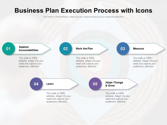 Business Plan Execution Process With Icons Ppt PowerPoint Presentation File Inspiration PDF