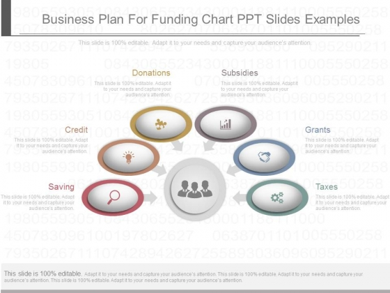 Business Plan For Funding Chart Ppt Slides Examples