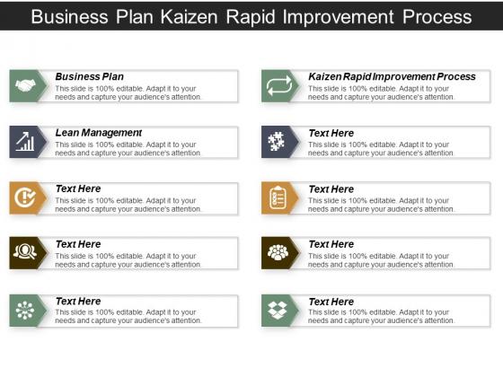 Business Plan Kaizen Rapid Improvement Process Lean Management Ppt PowerPoint Presentation Ideas Elements