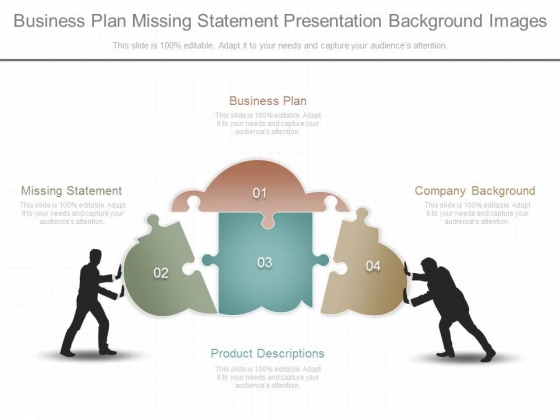 Business Plan Missing Statement Presentation Background Images