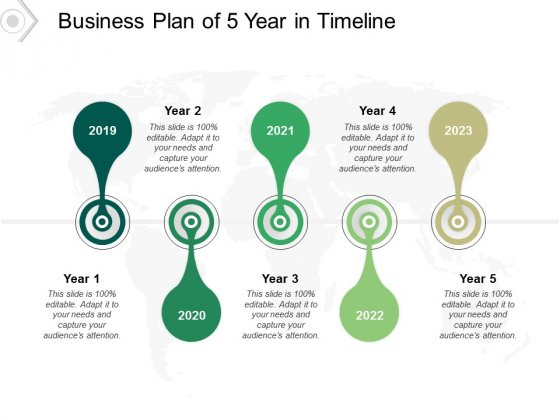 Business Plan Of 5 Year In Timeline Ppt PowerPoint Presentation Slides