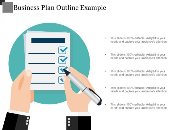 Business Plan Outline Example Ppt PowerPoint Presentation Slides Portrait