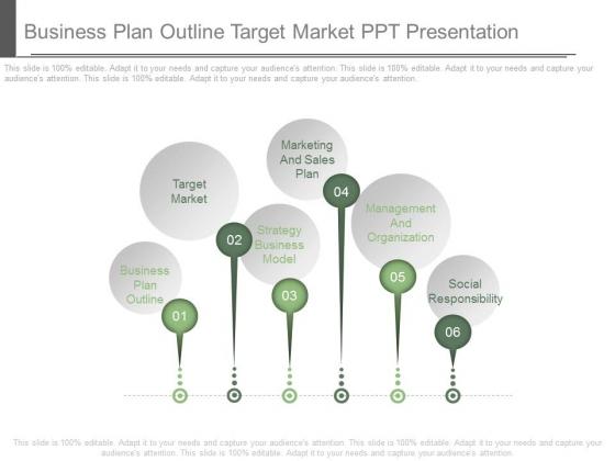 Business Plan Outline Target Market Ppt Presentation