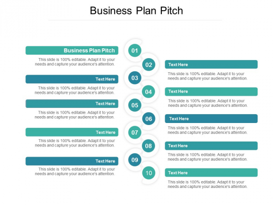Business Plan Pitch Ppt PowerPoint Presentation Outline Format Ideas Cpb