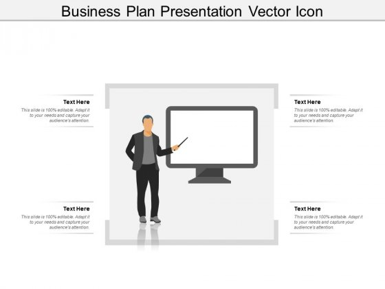 Business Plan Presentation Vector Icon Ppt Powerpoint Presentation Summary Deck