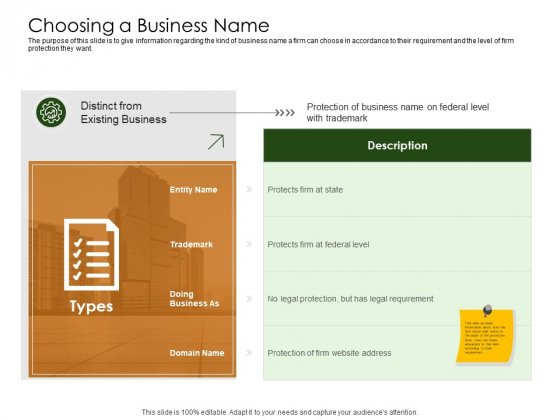 Business Planning And Strategy Playbook Choosing A Business Name Professional PDF