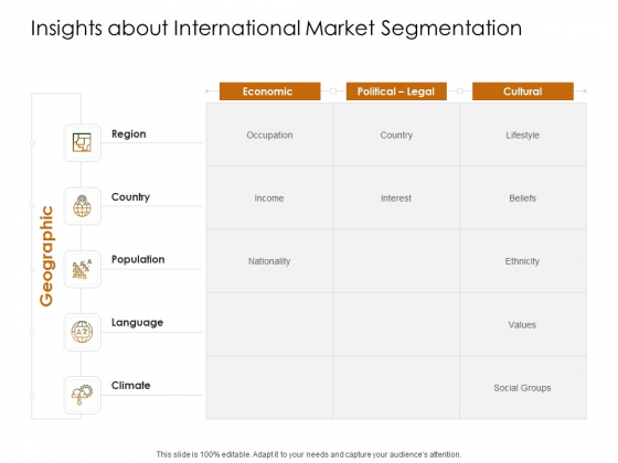 Business Planning And Strategy Playbook Insights About International Market Segmentation Ppt Infographic Template Portfolio PDF