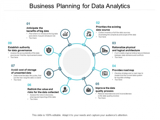 Business Planning For Data Analytics Ppt PowerPoint Presentation Samples