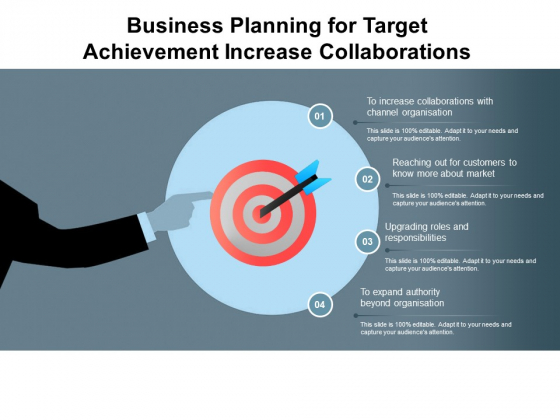 Business Planning For Target Achievement Increase Collaborations Ppt PowerPoint Presentation Pictures Maker