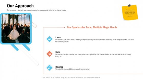 Business Portfolio For Event Management Enterprise Our Approach Introduction PDF