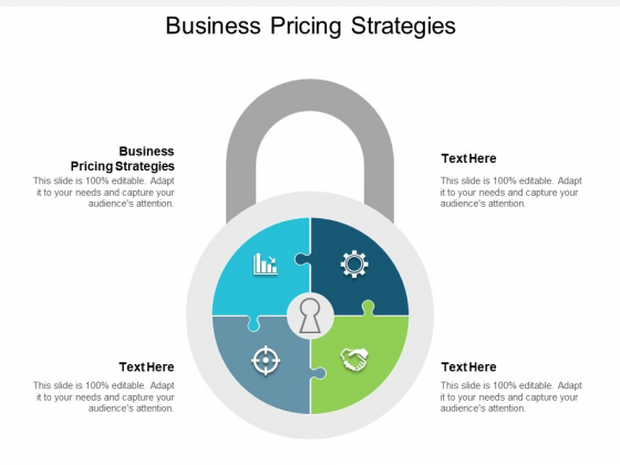 Business Pricing Strategies Ppt Powerpoint Presentation Styles Icons Cpb