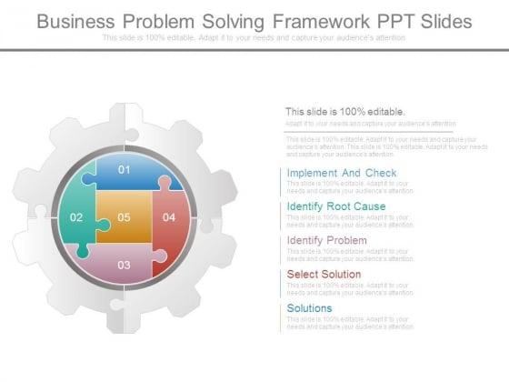 Business Problem Solving Framework Ppt Slides