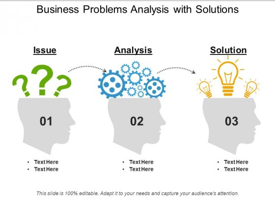 Business Problems Analysis With Solutions Ppt PowerPoint Presentation Styles Background PDF