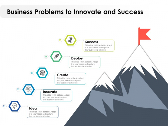 Business Problems To Innovate And Success Ppt PowerPoint Presentation File Graphics Download PDF