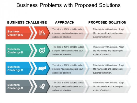 Business Problems With Proposed Solutions Ppt PowerPoint Presentation Styles Background