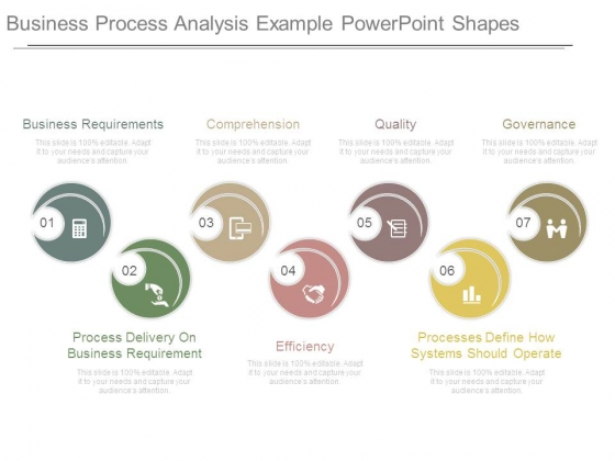 Business Process Analysis Example Powerpoint Shapes