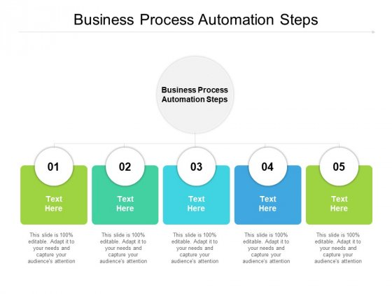 Business Process Automation Steps Ppt PowerPoint Presentation Infographic Template Visual Aids Cpb Pdf