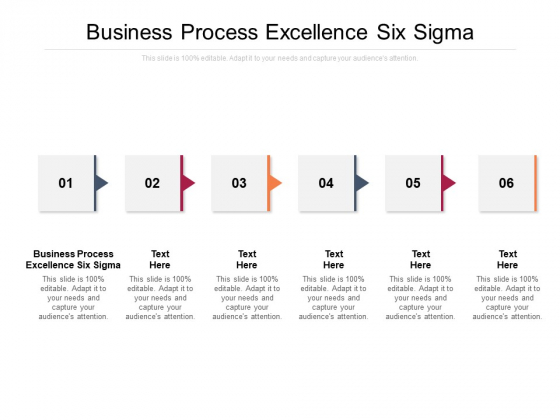 Business Process Excellence Six Sigma Ppt PowerPoint Presentation Show Ideas Cpb Pdf