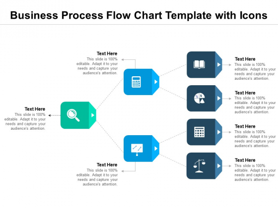 Business Process Flow Chart Template With Icons Ppt PowerPoint Presentation Show Examples PDF