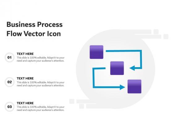 Business Process Flow Vector Icon Ppt PowerPoint Presentation Ideas Structure PDF