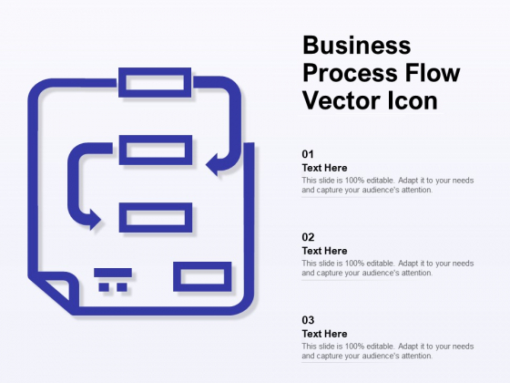 Business Process Flow Vector Icon Ppt PowerPoint Presentation Layouts Display