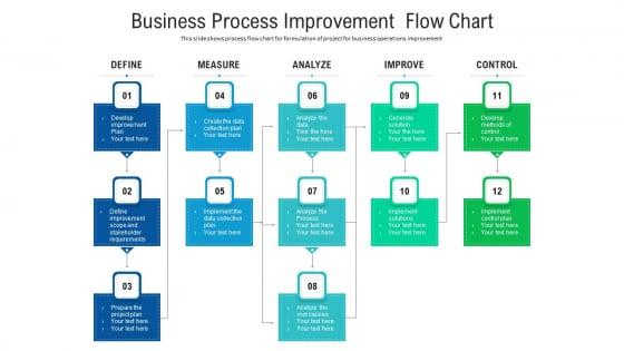 Business Process Improvement Flow Chart Ppt Layouts Outfit PDF
