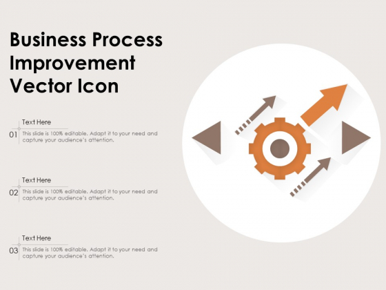 Business Process Improvement Vector Icon Ppt PowerPoint Presentation Icon Model PDF