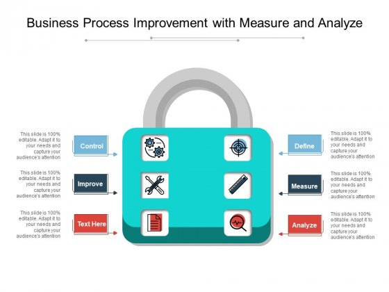 Business Process Improvement With Measure And Analyze Ppt PowerPoint Presentation Summary Visual Aids PDF