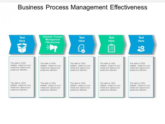 Business Process Management Effectiveness Ppt PowerPoint Presentation Inspiration Structure Cpb