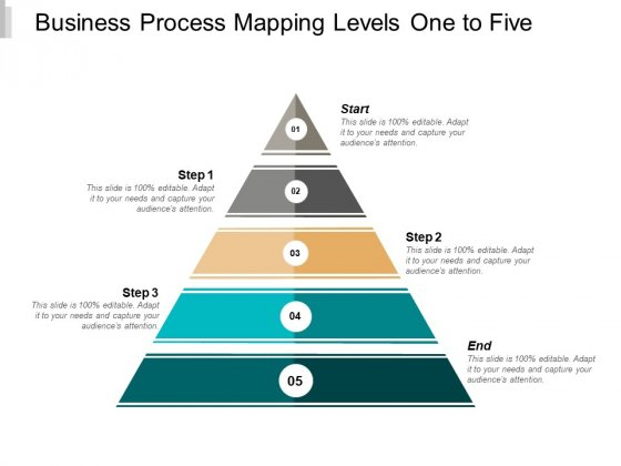 Business Process Mapping Levels One To Five Ppt PowerPoint Presentation Icon Diagrams