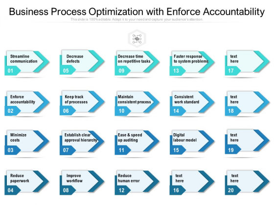 Business Process Optimization With Enforce Accountability Ppt PowerPoint Presentation File Deck PDF