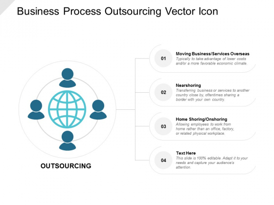 Business Process Outsourcing Vector Icon Ppt PowerPoint Presentation Infographics Designs