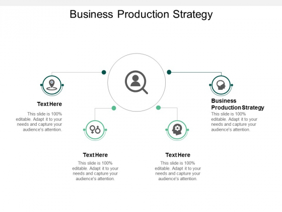 Business Production Strategy Ppt PowerPoint Presentation Gallery Icons Cpb