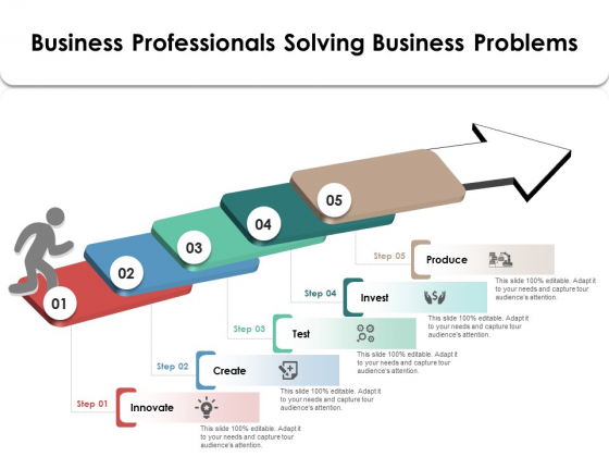 Business Professionals Solving Business Problems Ppt PowerPoint Presentation Icon Model PDF