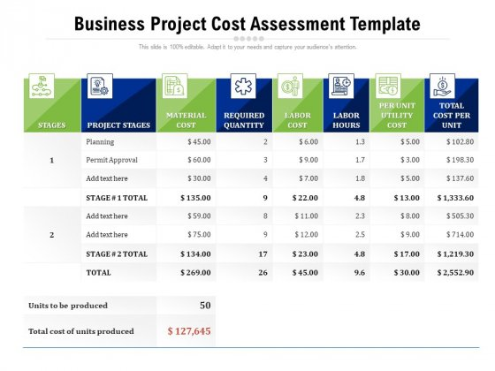 Business_Project_Cost_Assessment_Template_Ppt_PowerPoint_Presentation_Professional_Aids_PDF_Slide_1