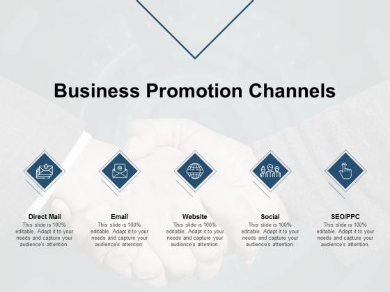 Business Promotion Channels Ppt PowerPoint Presentation Portfolio Example