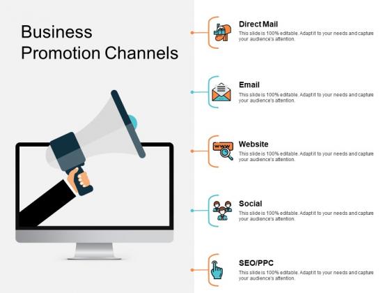 Business Promotion Channels Ppt PowerPoint Presentation Slides Show