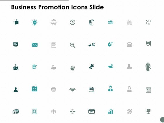 Business Promotion Icons Slide Business Ppt Powerpoint Presentation Icon Graphics Tutorials