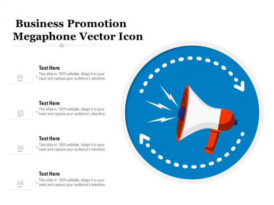 Business Promotion Megaphone Vector Icon Ppt PowerPoint Presentation File Graphics Template PDF