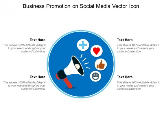 Business Promotion On Social Media Vector Icon Ppt PowerPoint Presentation Styles Visual Aids PDF