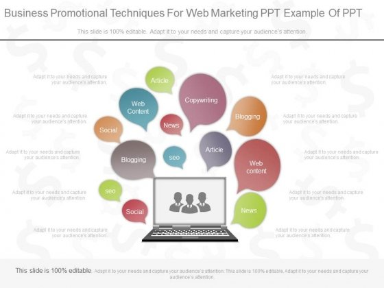Business Promotional Techniques For Web Marketing Ppt Example Of Ppt