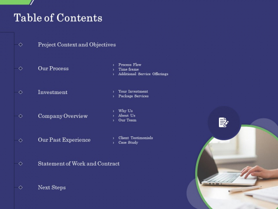 Business Proposal Table Of Contents Ppt Gallery Example Introduction PDF