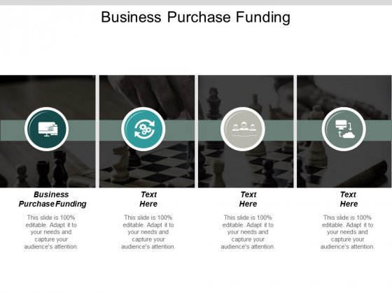 Business Purchase Funding Ppt PowerPoint Presentation Outline Outfit Cpb