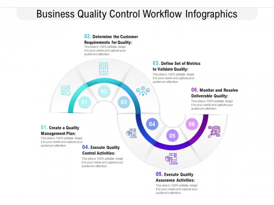 Business Quality Control Workflow Infographics Ppt PowerPoint Presentation Icon Pictures PDF